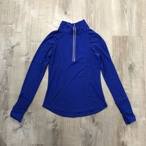 Bright blue athletic zip up